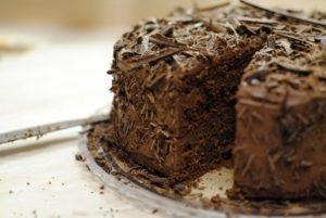 Čokoládový máslový dort