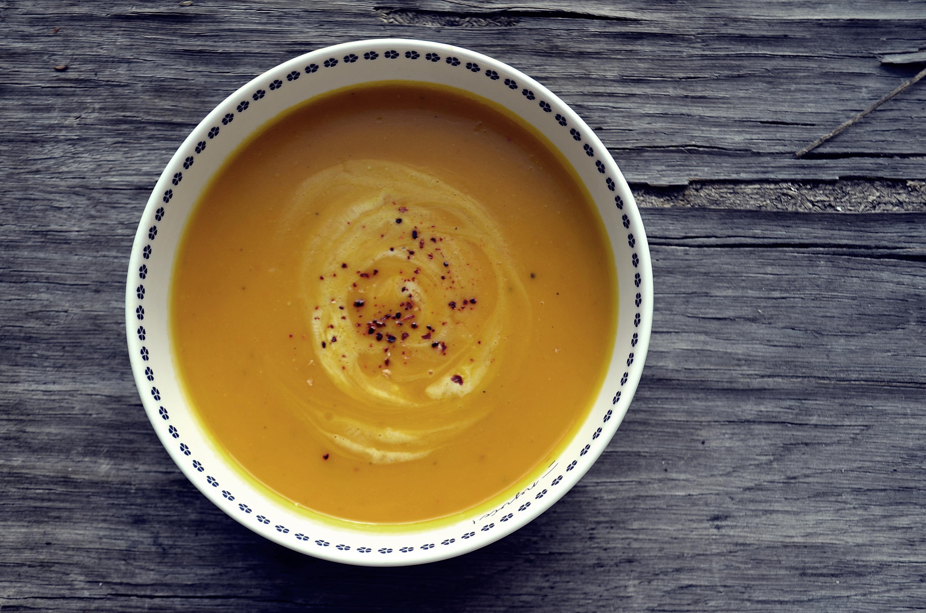 Dýňová polévka se zázvorem