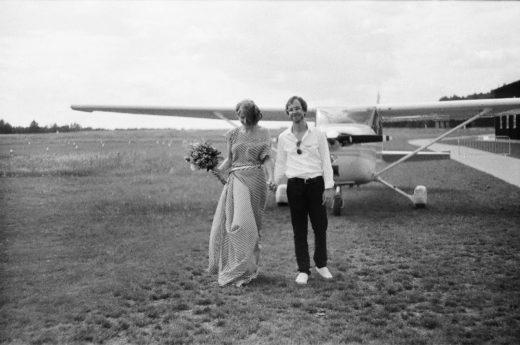 Svatební fotografie z letiště Točná